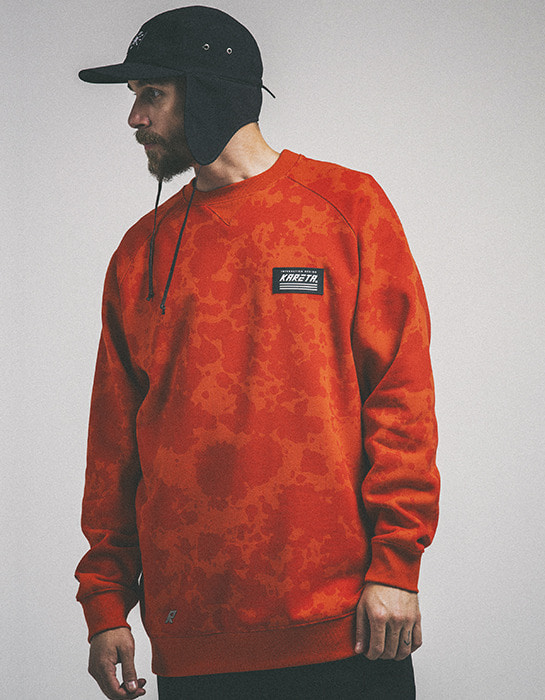 Origin Crew neck Orange Leopard