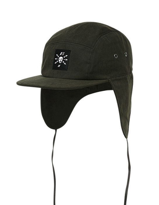 Waxed Ear cap Khaki
