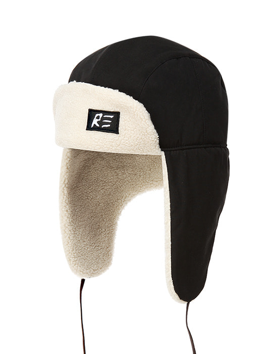 Trapper Hat Black / White