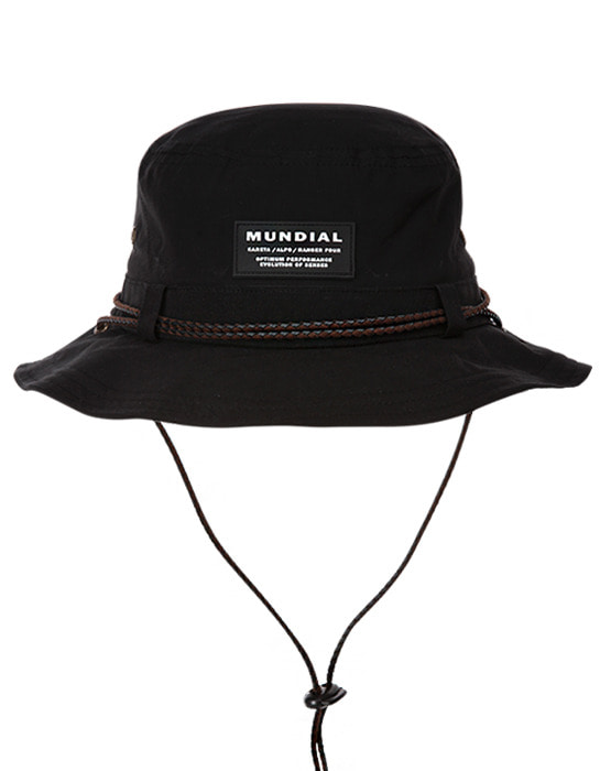 Waxed Bucket Hat Black