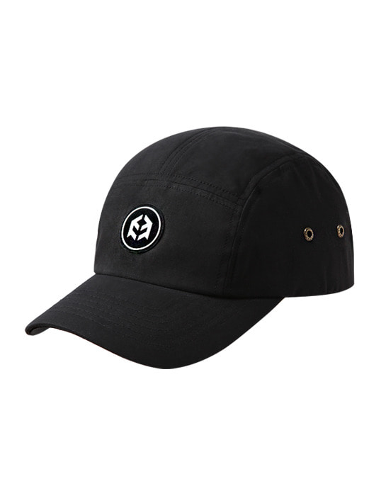 Waxed Logo Cap Black
