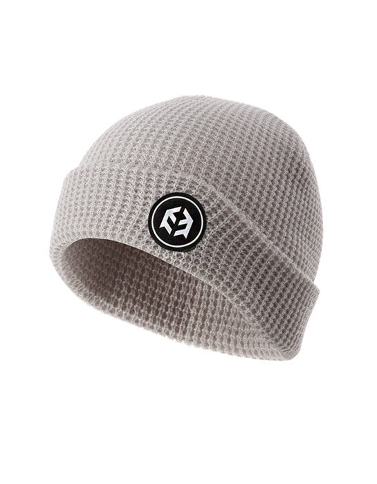 Worker Beanie White Gray