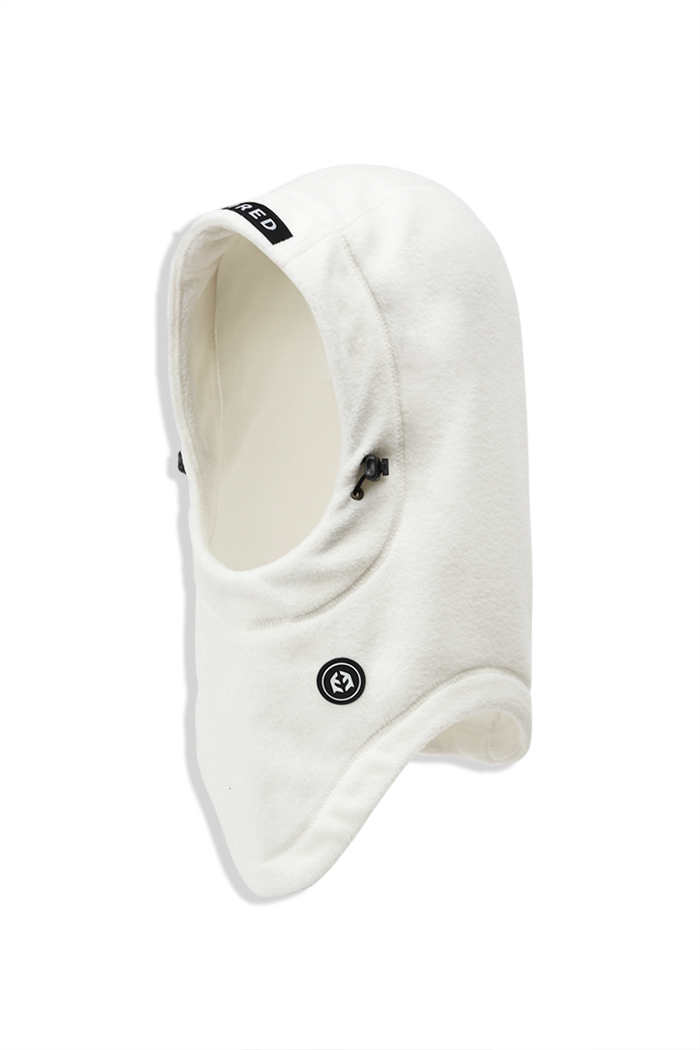 Fleece Hood Warmer White