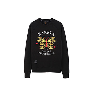 Butterfly Crew neck Black