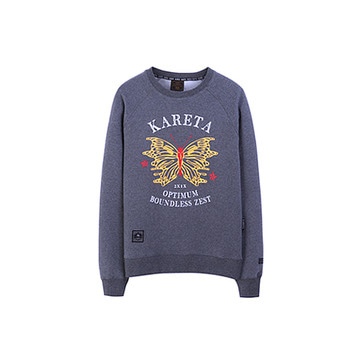 Butterfly Crew neck Dark Grey