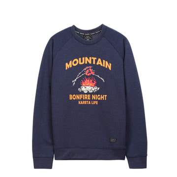 Mountain Crewneck Denim Blue