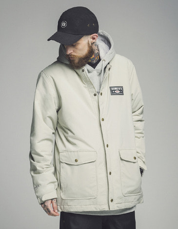 Tracker Jacket White Gray