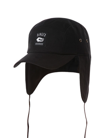 Waxed Ear Cap Black