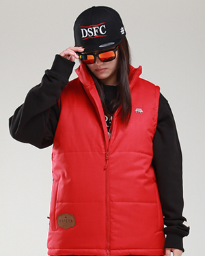 Puffy Vest Red